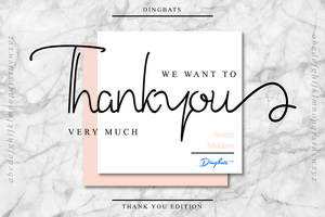 Fancy : Thank You Dingbats Font