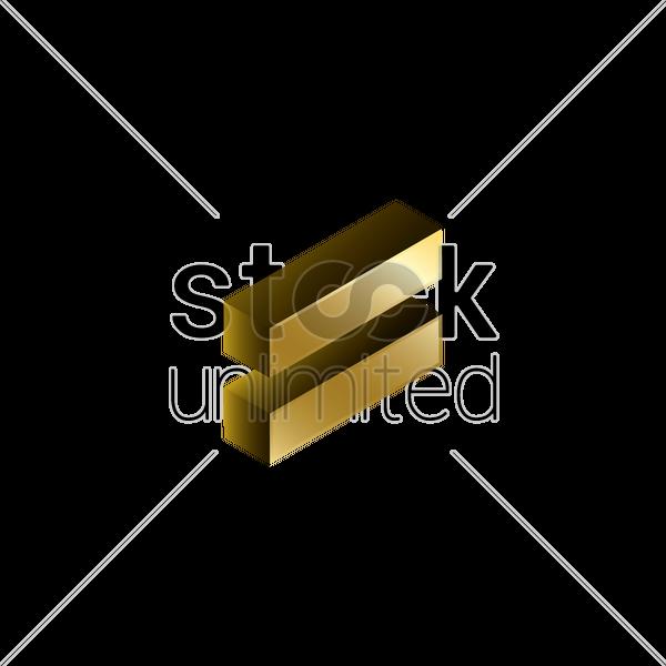 3d Equals Symbol Vector Image 1827934 Stockunlimited