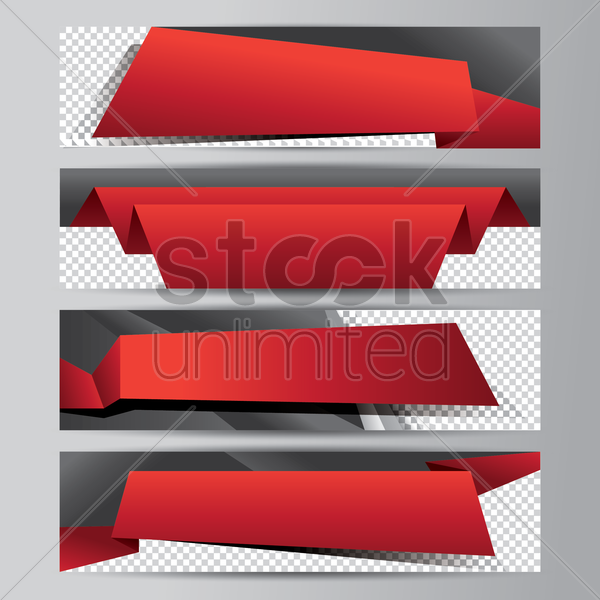 abstract banner collection vector graphic
