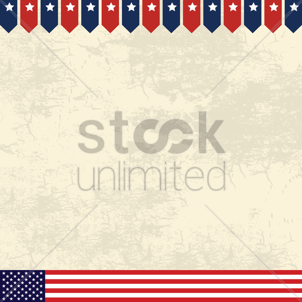 american border design vector graphic