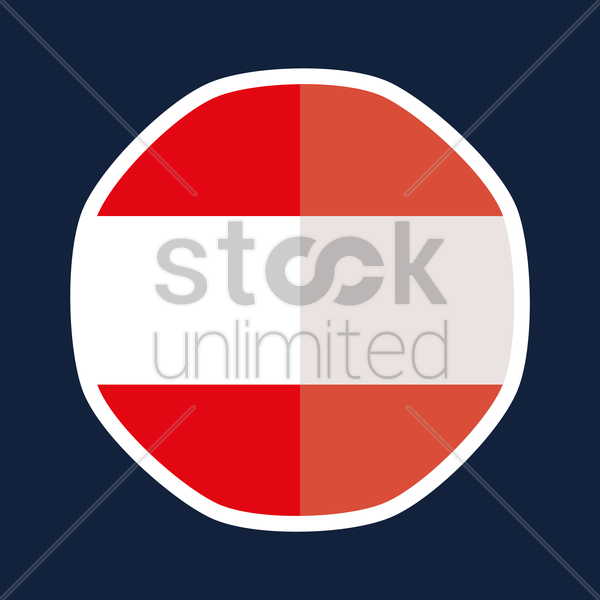 Austria flag sticker vector graphic
