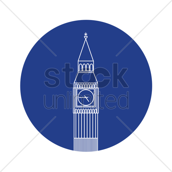 big ben vector graphic