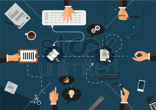 business flow vector graphic
