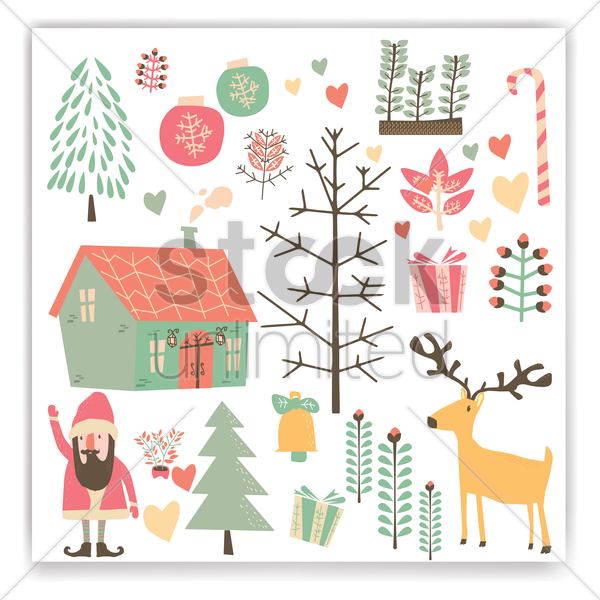 christmas designs collection vector graphic