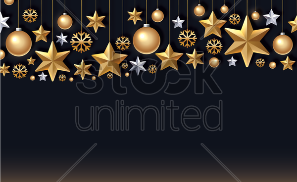 christmas ornaments vector graphic