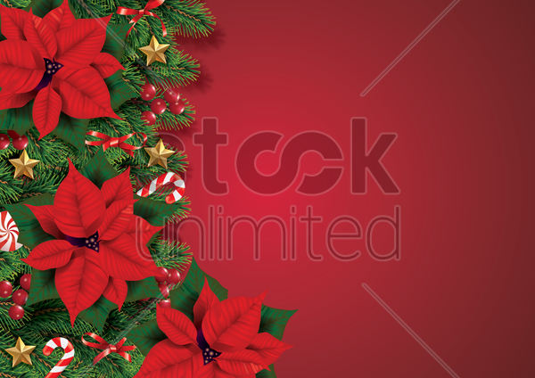 christmas wreath with ornaments vector graphic