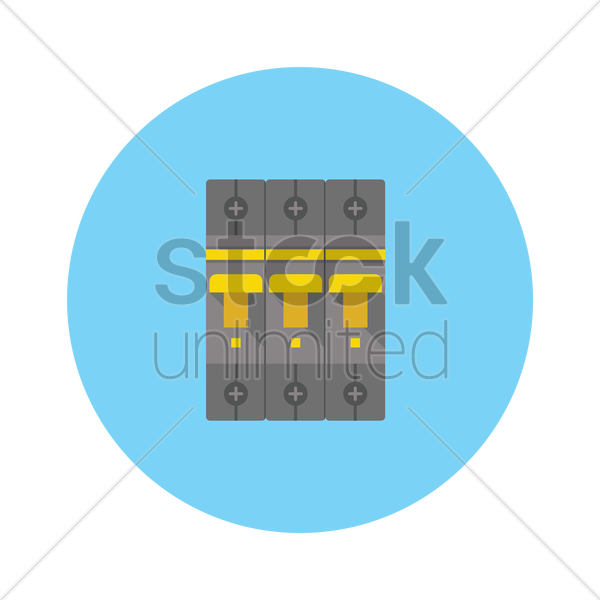 circuit breaker and fuse box_1247494 circuit breaker and fuse box vector image 1247494 stockunlimited fuse box circuit breaker at crackthecode.co