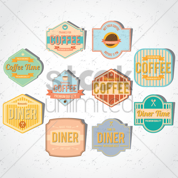collection of store sign vector graphic