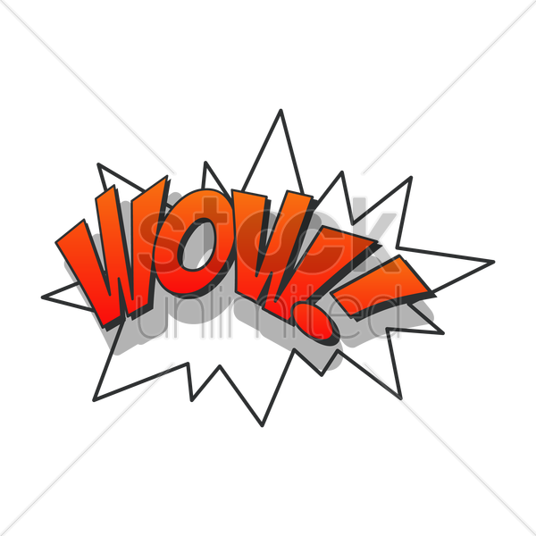 comic bubble wow vector graphic