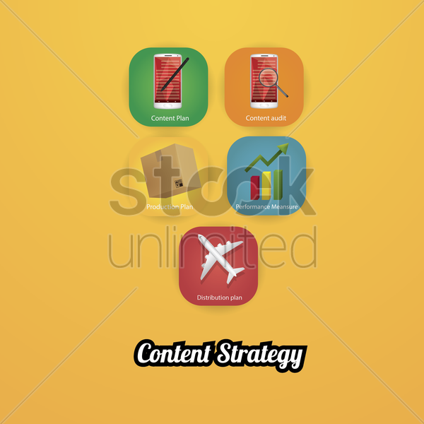 content strategy vector graphic