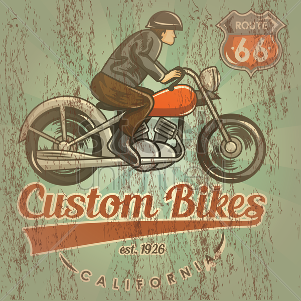 custom bikes vector graphic