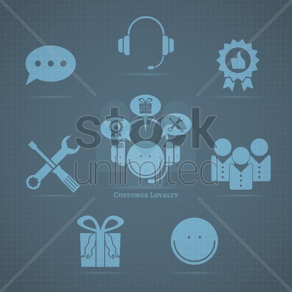 customer loyalty vector graphic