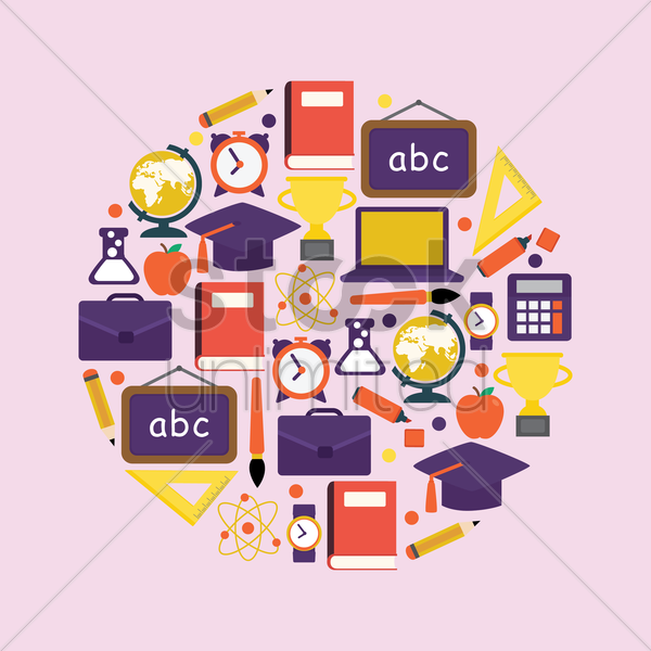 education concept icons vector graphic