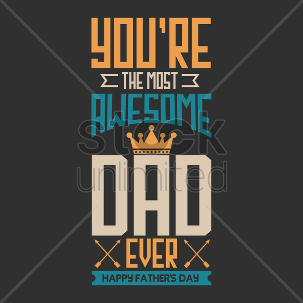 Free father's day greeting card vector graphic