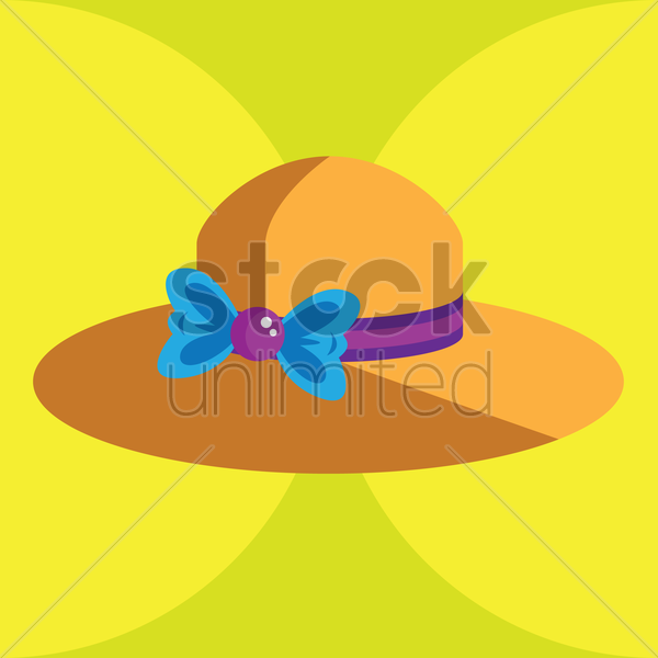 Free female hat vector graphic