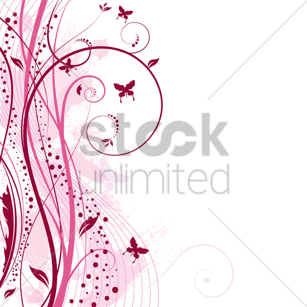 floral grunge background vector graphic