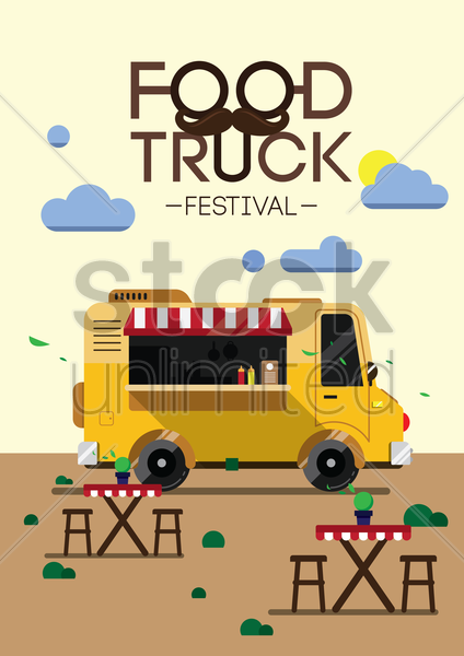 Food truck festival poster design vector image 1797662 for Design your food truck