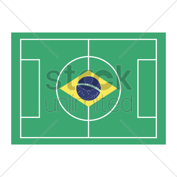 football field with brazil flag vector image 1572426 stockunlimited rh stockunlimited com football field vector free football field clipart vector