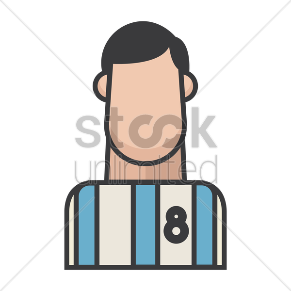 football player vector graphic
