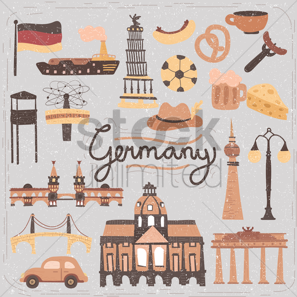 germany icon collections vector graphic