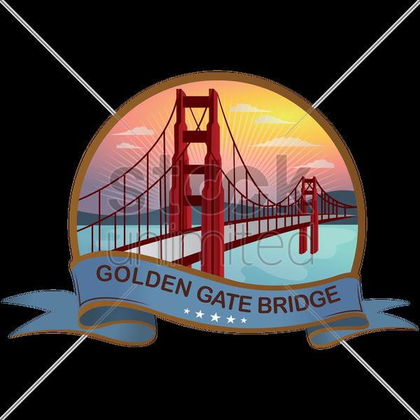 Golden gate bridge Vector Image - 1569058 | StockUnlimited