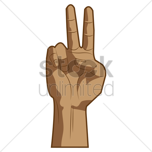 Hand Showing Peace Sign Vector Image 1459042 Stockunlimited