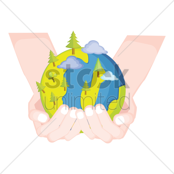 Free Hands Holding Earth With Trees Vector Image 1425258 Stockunlimited Hands holding earth png collections download alot of images for hands holding earth download free with high quality for designers. hands holding earth with trees vector