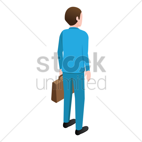 isometric businessman vector graphic