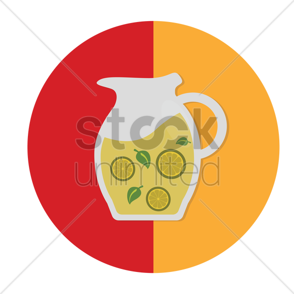 lemonade with mint vector graphic