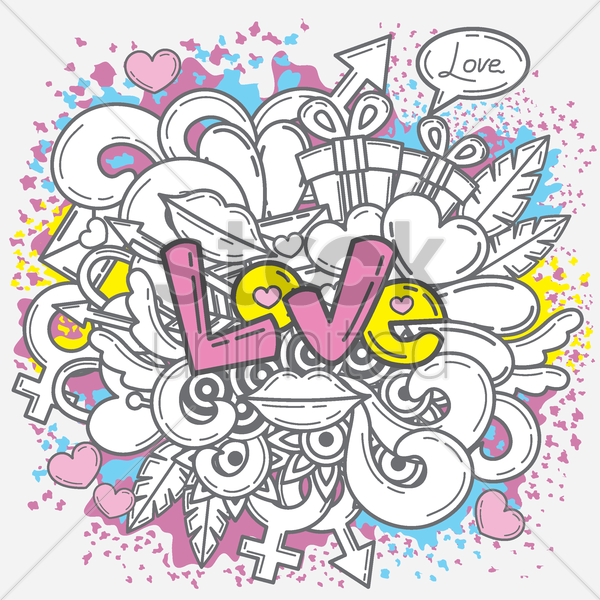 love poster vector graphic
