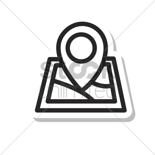 Navigation Pin On A Map Vector Image