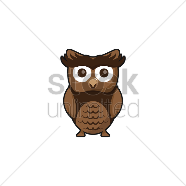 owl vector graphic