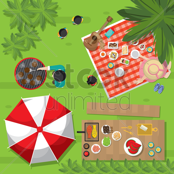 picnic vector graphic
