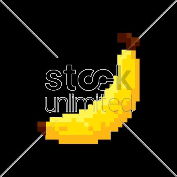 pixel art banana vector image 1987406 stockunlimited. Black Bedroom Furniture Sets. Home Design Ideas