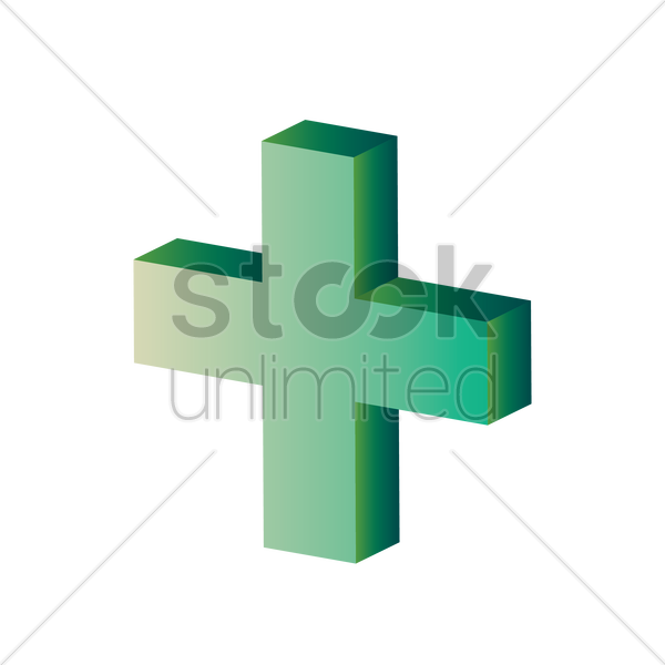 Plus Sign Vector Image 1636038 Stockunlimited