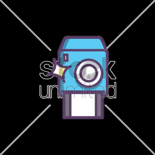 Polaroid Camera Vector Graphic