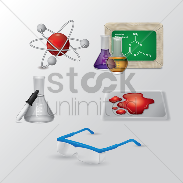 science icons set vector graphic