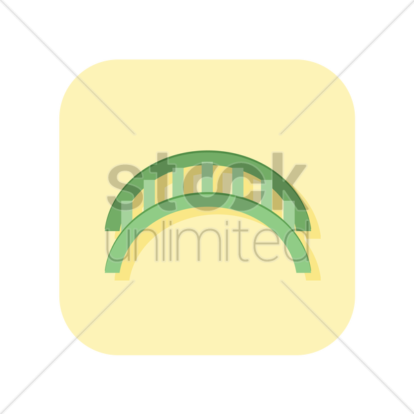 set of a semi circular bars vector graphic