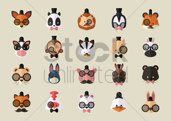 Free set of animals vector graphic