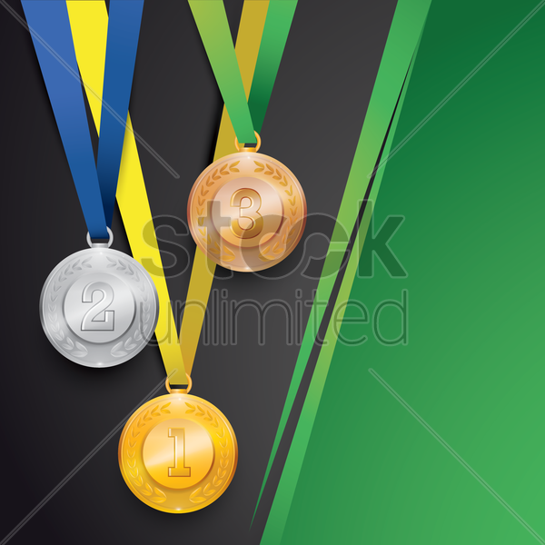 sports medals vector graphic