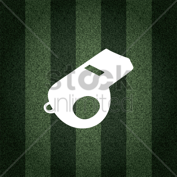 Free sports whistle on striped background vector graphic
