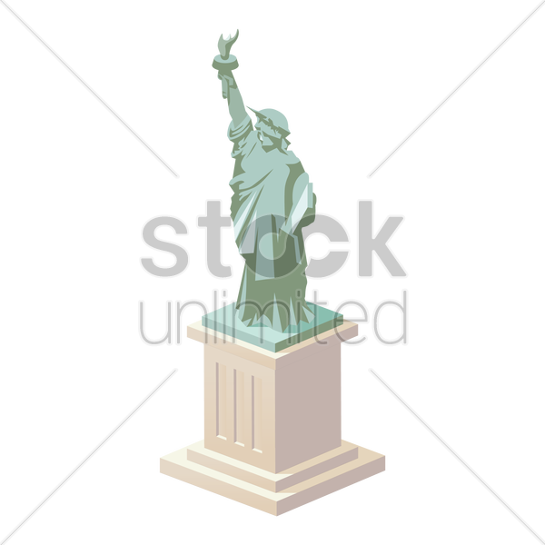 statue of liberty vector graphic
