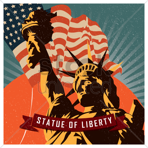 statute of liberty vector graphic