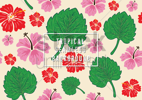 Free tropical seamless background vector graphic