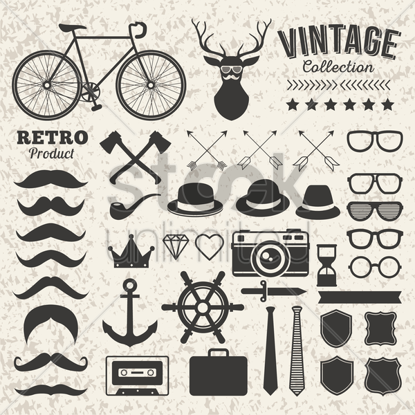 vintage collection vector graphic