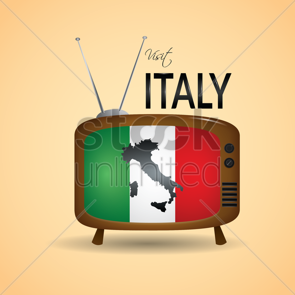 visit italy vector graphic