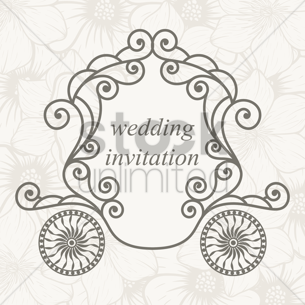 Wedding Invitation Design Vector Image 1986850 Stockunlimited