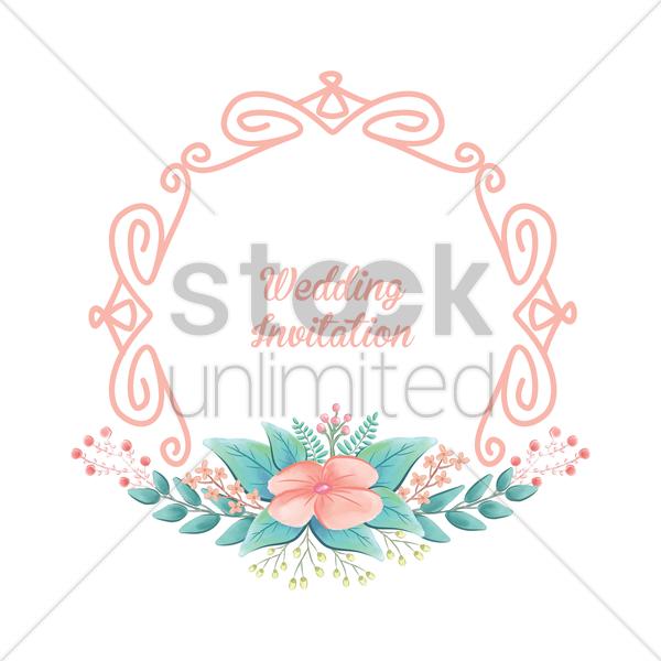 Wedding Invitation Vector Image 1789418 Stockunlimited