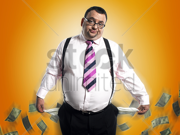 broke businessman stock photo