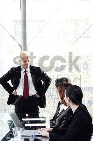 business people in the conference room stock photo
